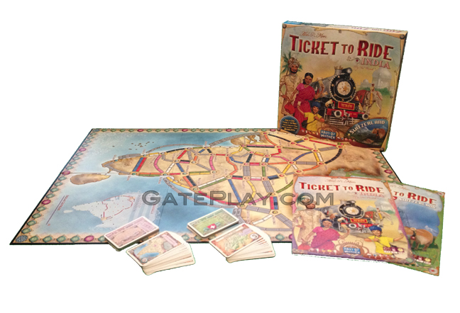 Ticket To Ride India Map.Gateplay Com Games Ticket To Ride Map Collection Volume 2 India