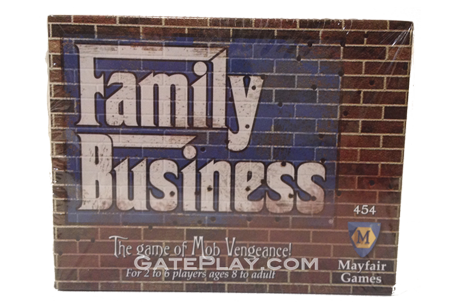 Family business david b bromley mayfair games gateplay every player controls a family and plays various cards to off other players family members in a game with this little structure its possible for colourmoves